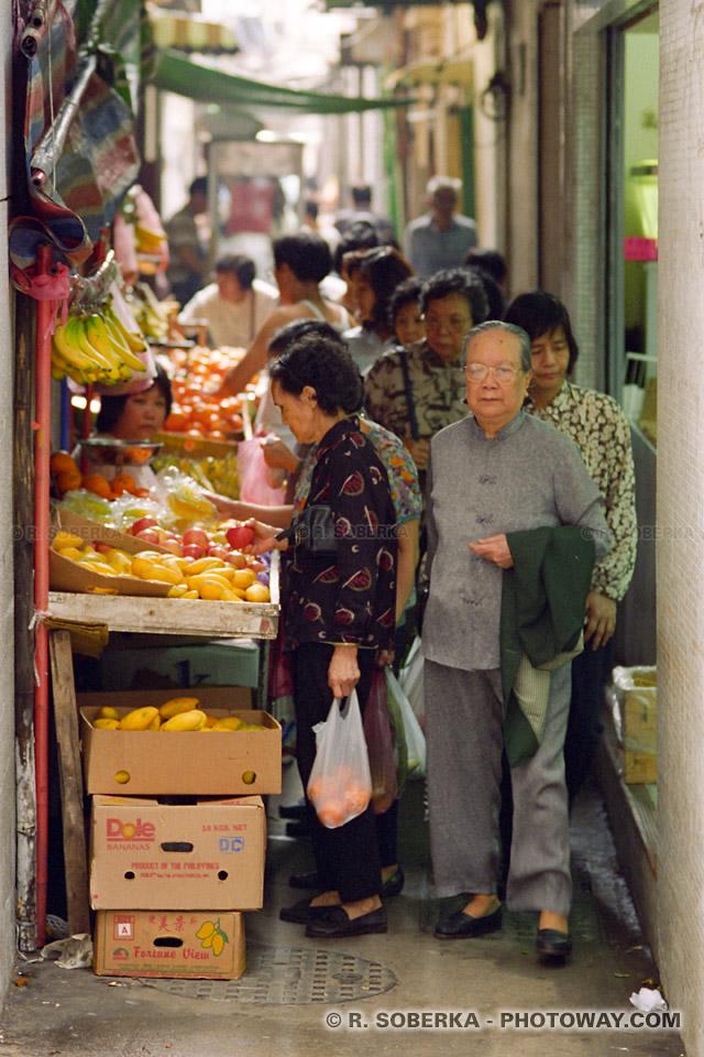 Image et photos de marchés chinois photo marché à Macao