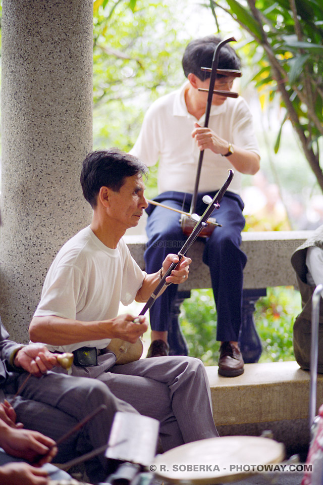 image Photos de musiciens photo dans un square de Macao guide de tourisme