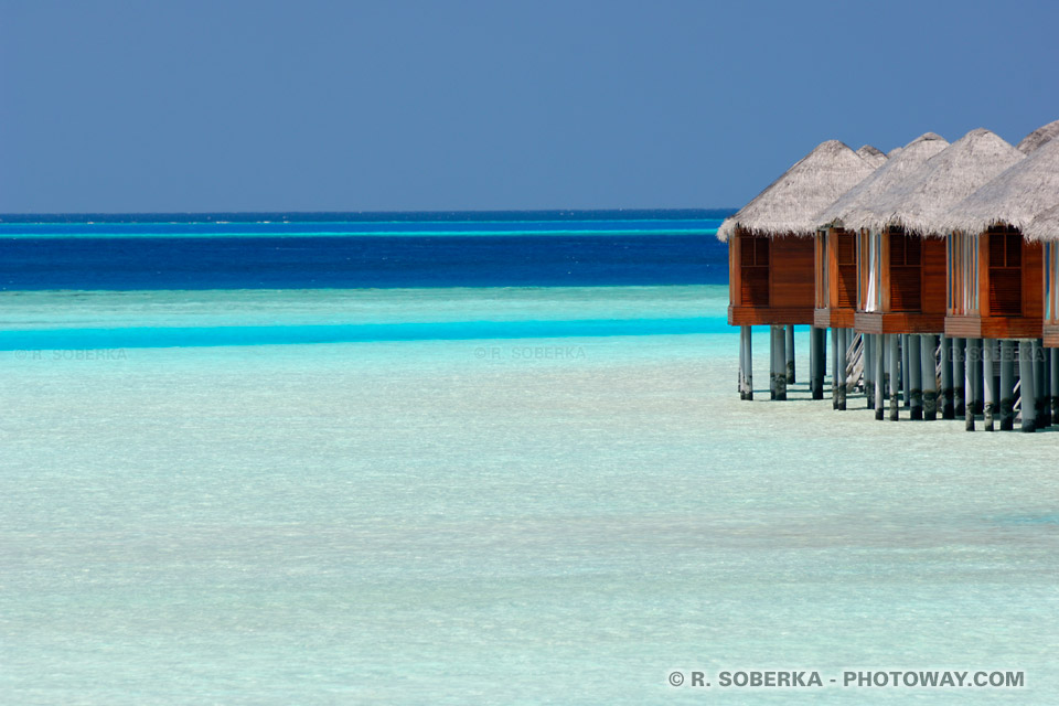Fonds d'écran Maldives Bungalows wallpaper lagon