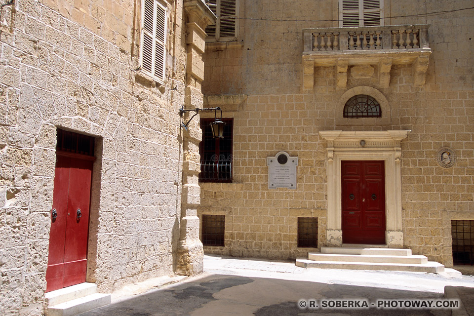 Images Photos de Mdina photo de maisons de maitre de Mdina à Malte