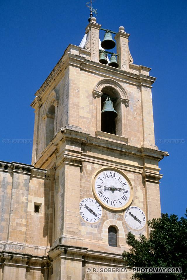 Images et Photos de cathédrale catholique la Valette photos des cadrans malte