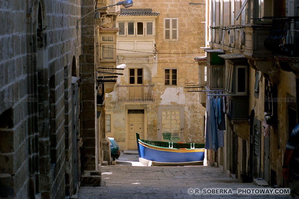 Images et Photos de rues piétonnes à La Valette Malte