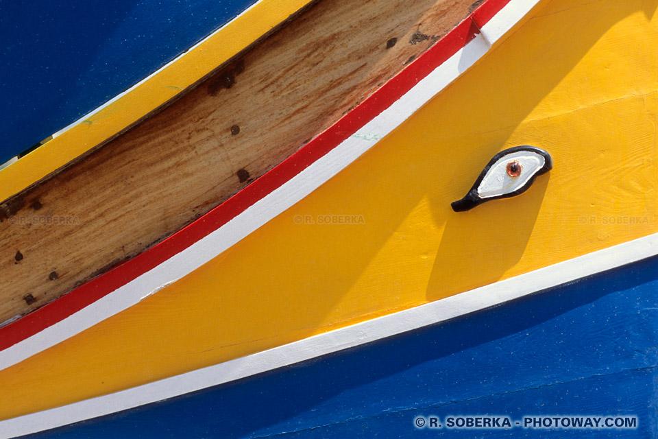 Photos de petits bateaux maltais photo d'un petit bateau à Malte