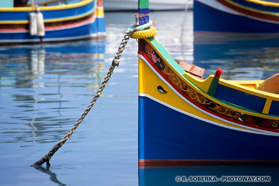 Images et Photos de port de pêche maltais photo du port de Marsaxlokk à Malte