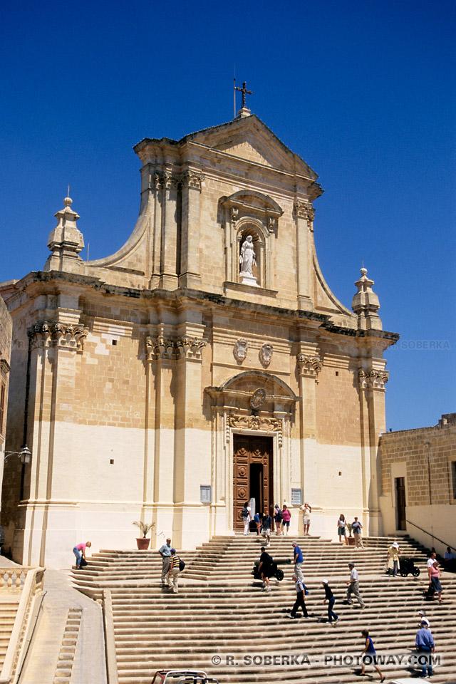 Images Photos de Victoria capitale de Gozo à Malte Cathédrale en photo