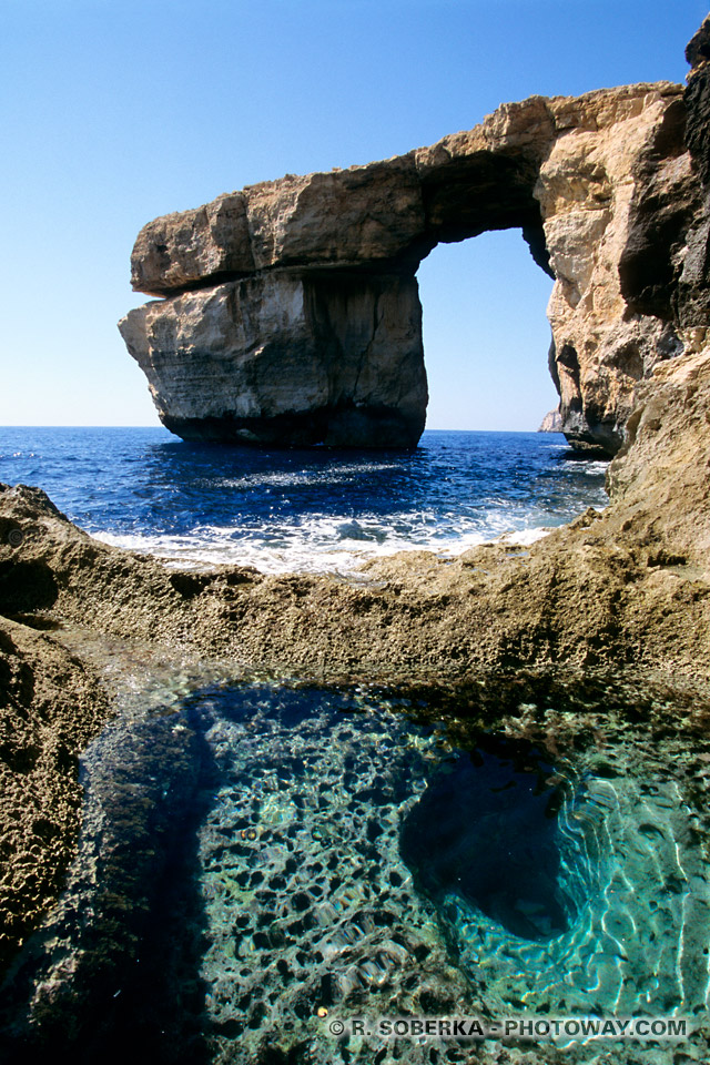 Images Photos du Blue Hole photo du trou bleu de Gozo photos sous-marines