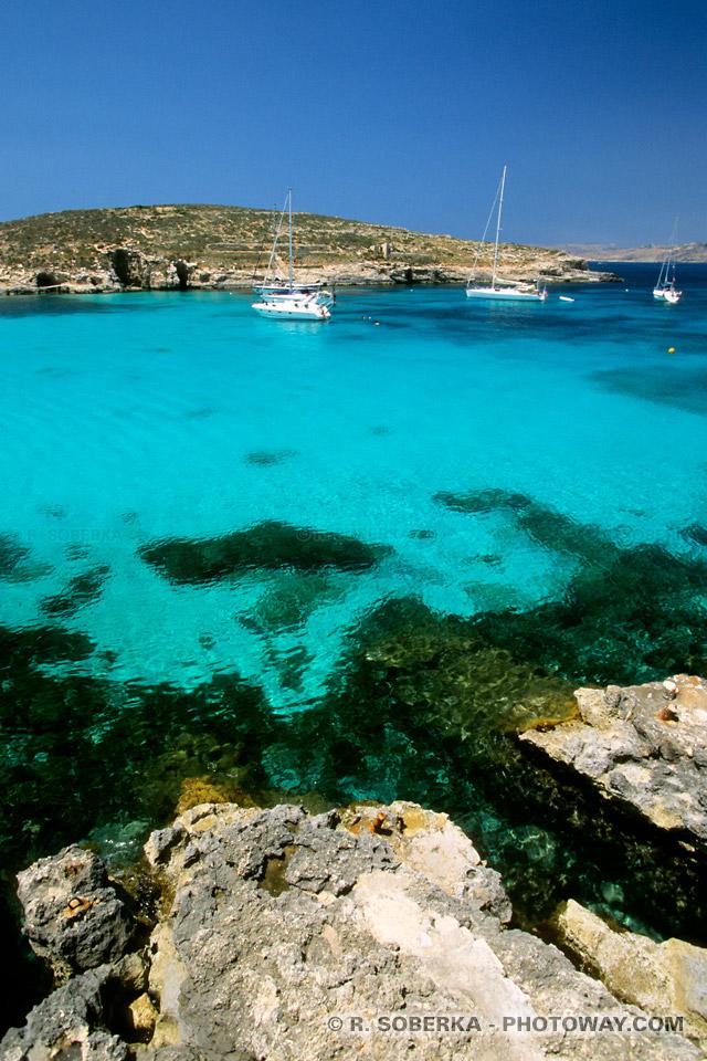 Images d'une Escale Toursistique à Malte Comino escale pour voiliers de plaisance