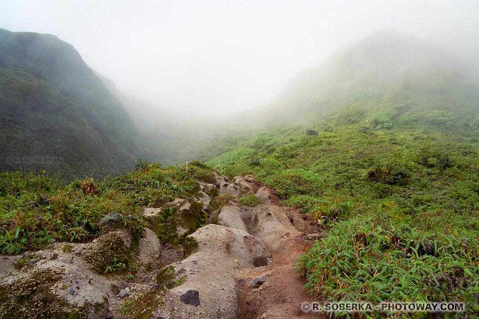 Escalade du volcan Montagne Pelée