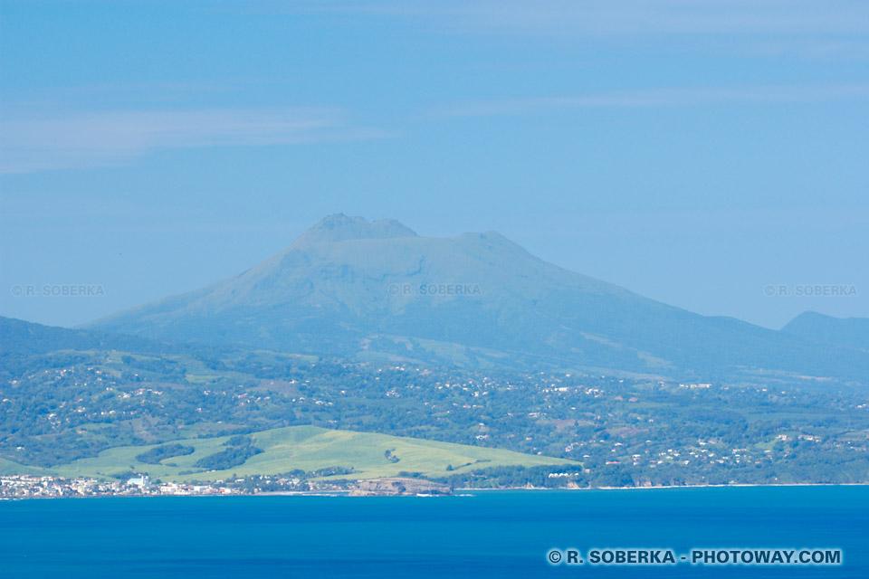 Montagne Pelée volcan de la Martinique