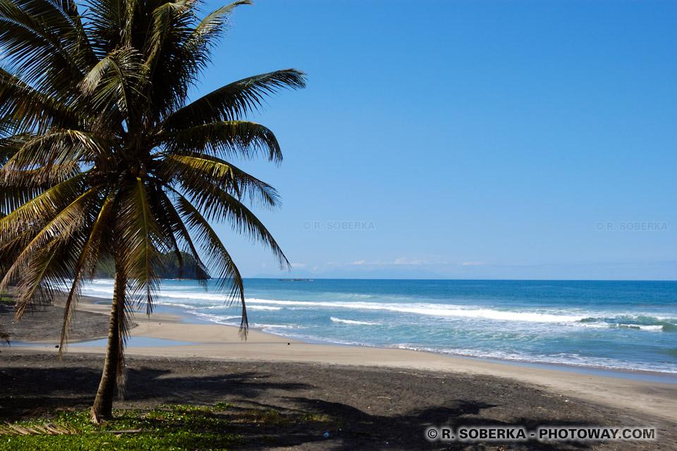 plage de sable noir en Martinique