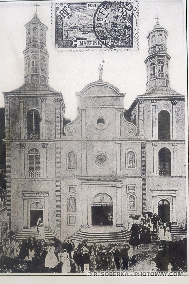 anciennes photo ancienne cathédrale de Saint-Pierre Martinique