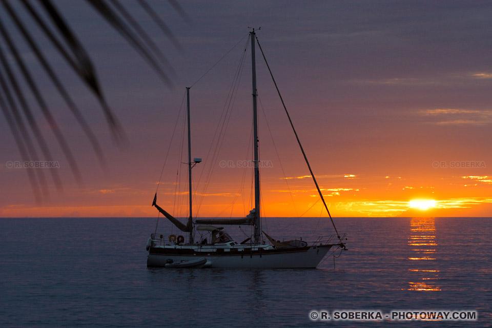 Coucher de soleil à Saint-Pierre en Martinique