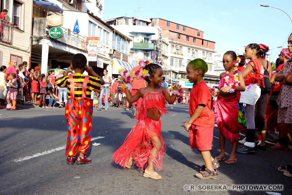 enfants en Martinique Carnaval