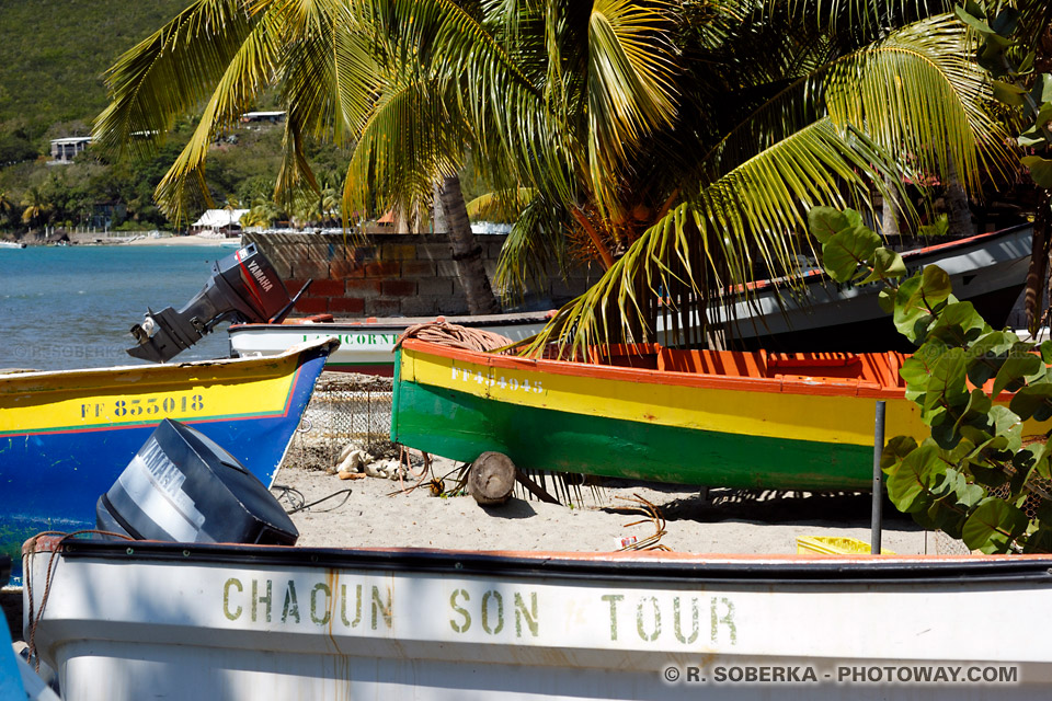 barques de pêcheurs en Martinique