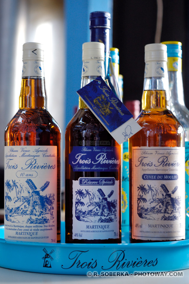bouteilles de rhum