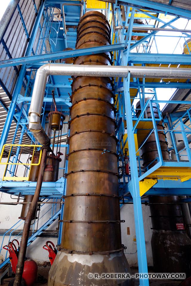 colonne de distillation de rhum