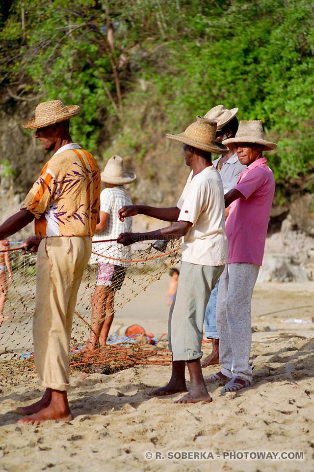 hommes Martiniquais photos pêcheurs
