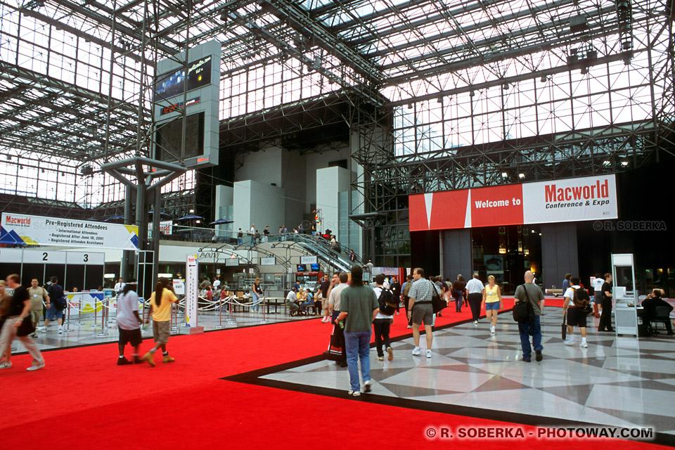 Images et Photos du Javits Convention Center salon Macworld Apple New York