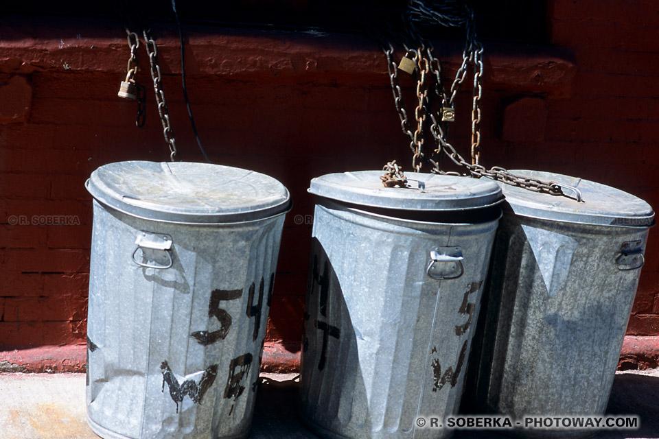 Images et Photos de poubelles photo d'une poubelle dans les rues de New York