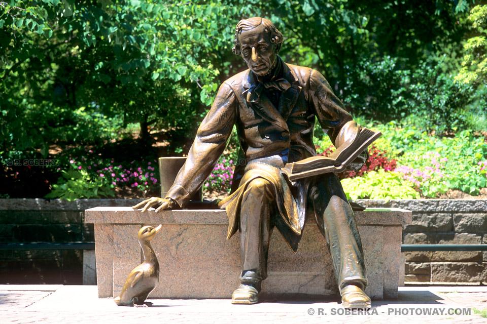 Image Photo Andersen photos de Hans Christian Andersen statue Central Park