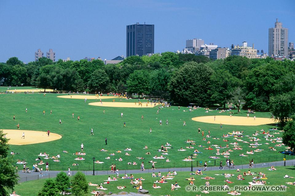 Images Photos de New-Yorkais photo à Central Park au coeur de New York