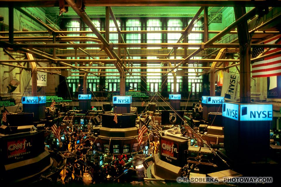 Image Photo de la bourse de New York photos salle du NASDAQ Down Jones