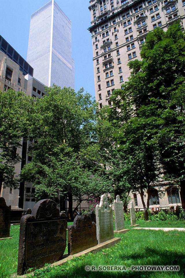 Image Photo de Trinity Church Cemetery photos cimetière de New York