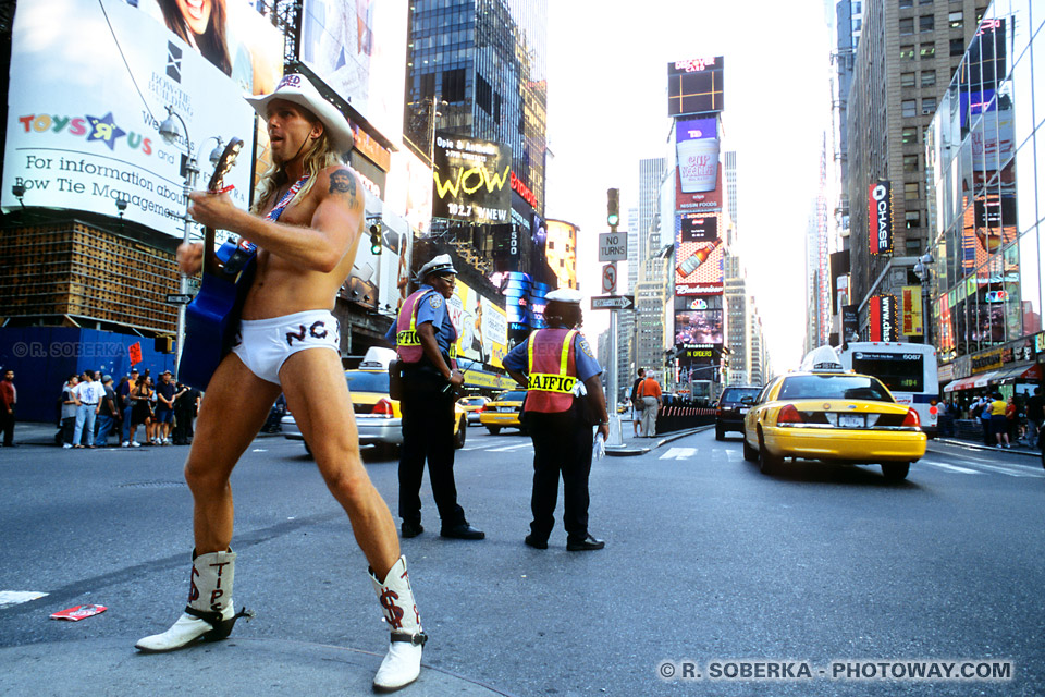 Images Photos The Naked Cowboy photo Times Square New York Manhattan
