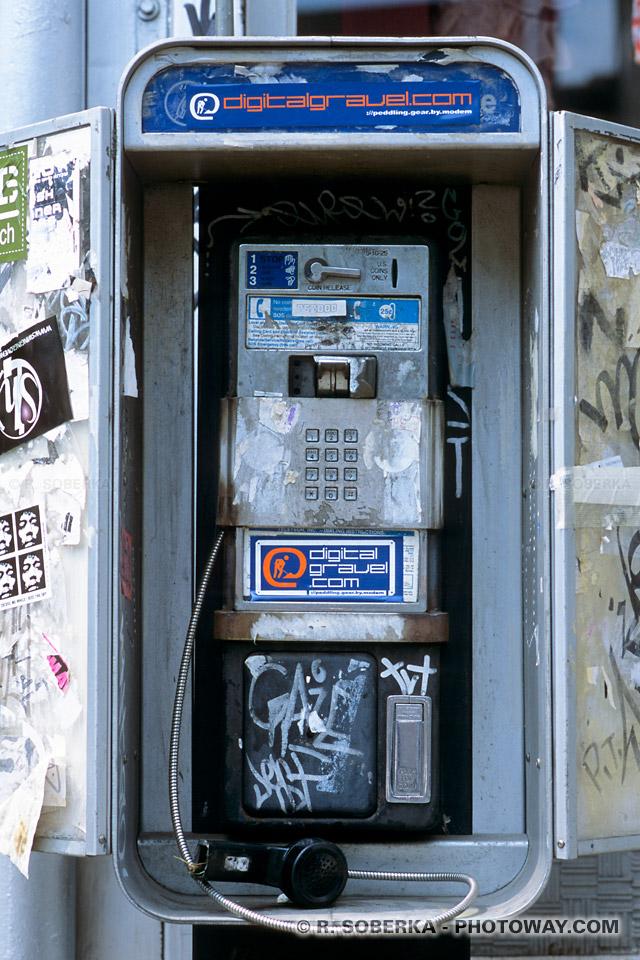 Image Photo d'une cabine téléphonique Photos de cabines téléphoniques