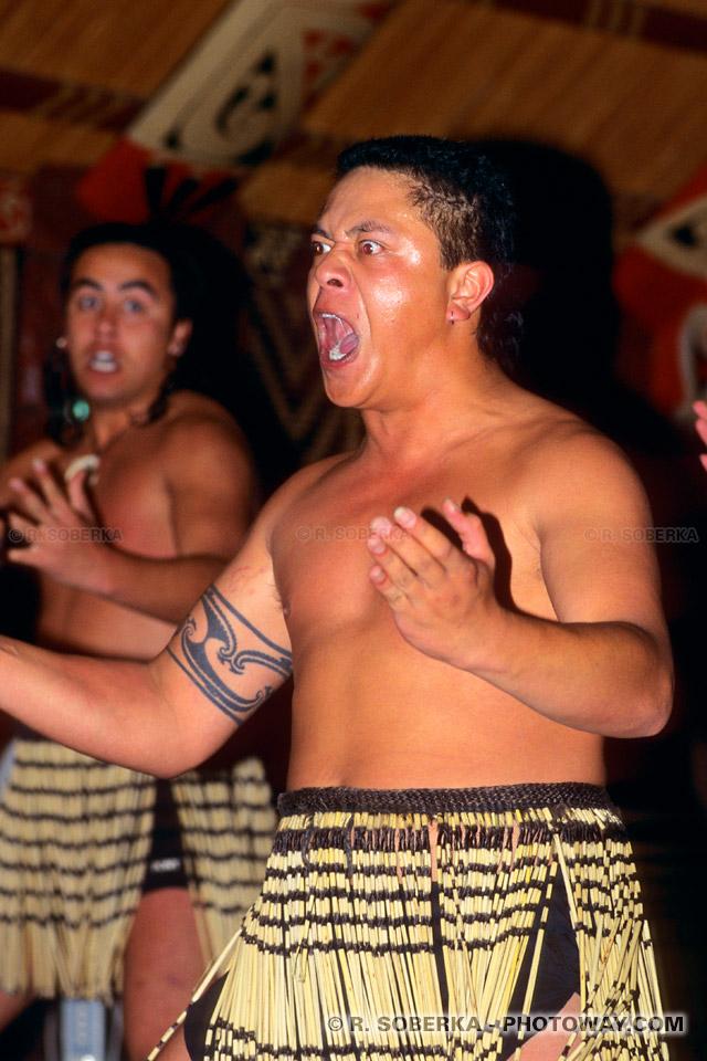 Photos de guerriers Maoris : Photo d'un guerrier Maori en Nouvelle-Zélande