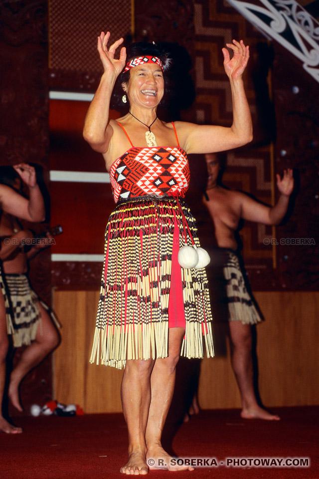 Photos de femmes Maoris : Photos d'une femme Maori en Nouvelle-Zélande
