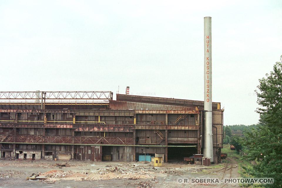 Photos de métalurgie polonaise photo aciérie Kosciuszko à Chorzow en Pologne