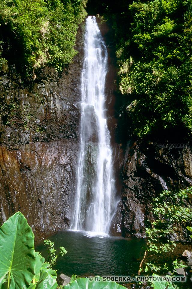 Photos des cascades Faarumai, photo de cascade à Tahiti