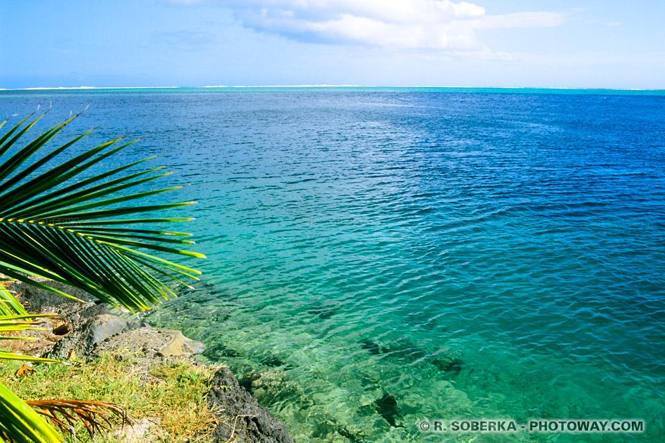 Photos de lagons à Tahiti photo lagon aux eaux turquoise en Polynésie