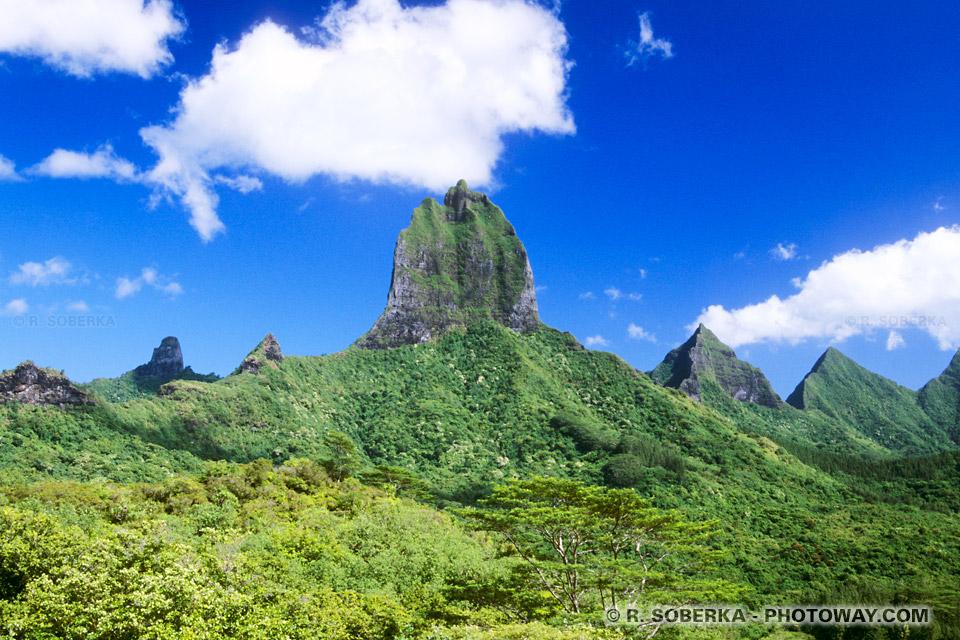 Photos de pics volcaniques de Moorea photographies de Moorea
