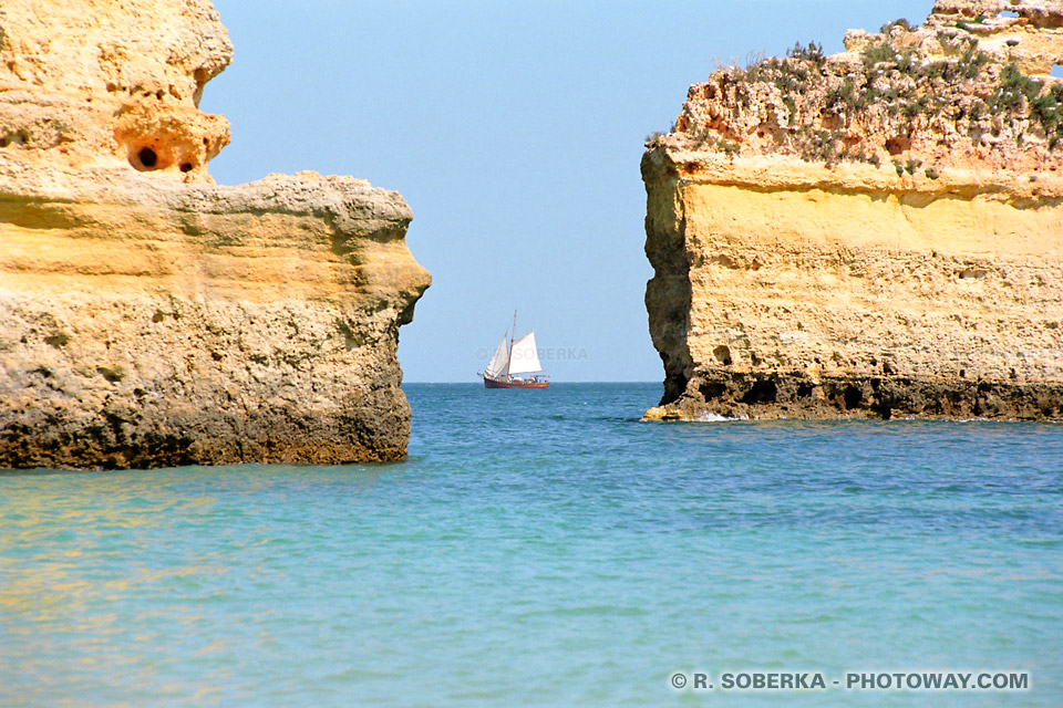 Fond d'écran bateau wallpaper du Portugal Algarve téléchargement