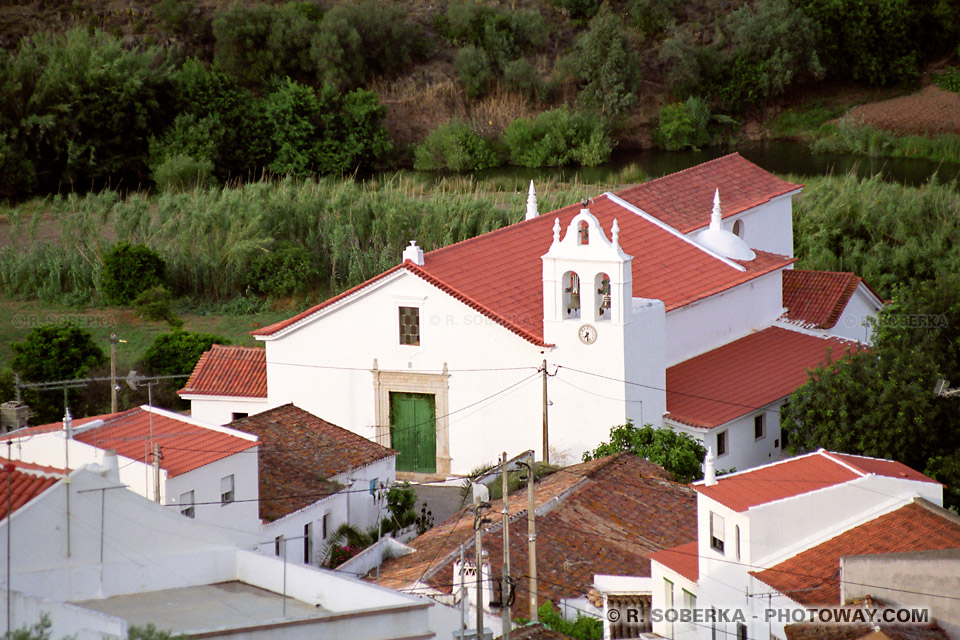 Photo de la frontière espagnole photos du Rio Guadiana dans l'Alentejo au Portugal