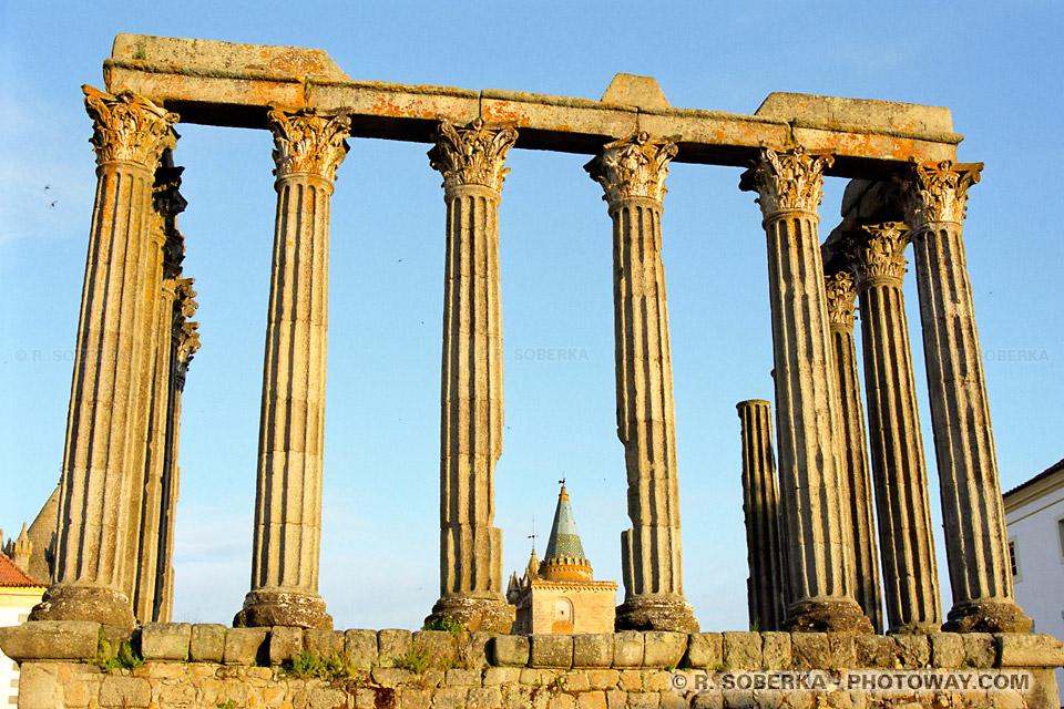 Photos du temple Romain de Diane : guide photo à Evora au Portugal
