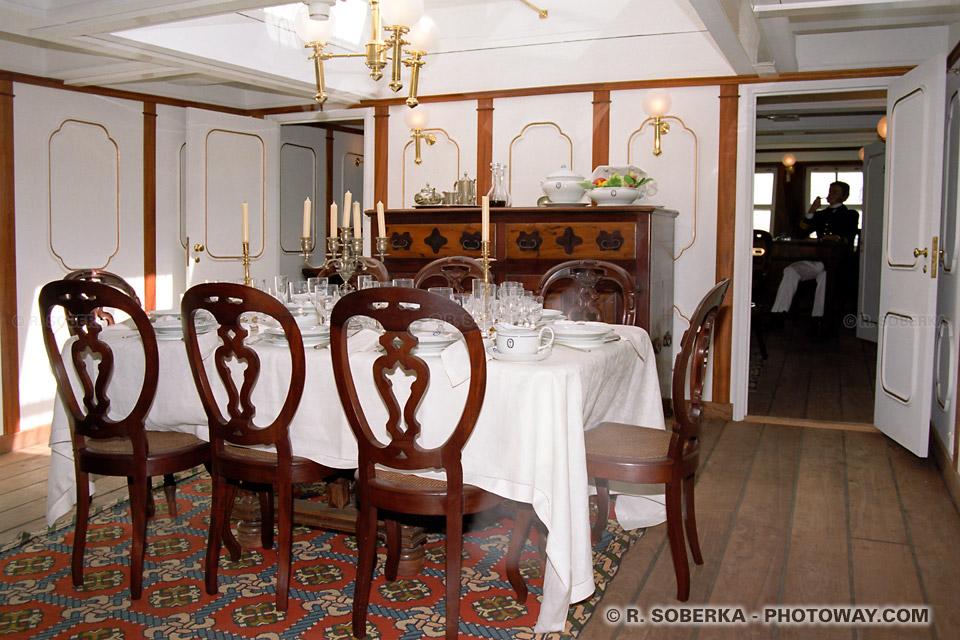Photos de cabines de bateaux : photo de la cabine d'un navire 3 mats portugais