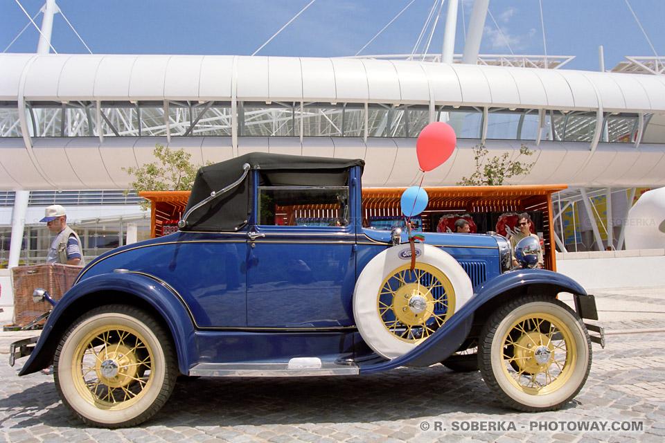 Photos de voitures anciennes photo du défilé à l'Exposition Universelle de Lisbonne