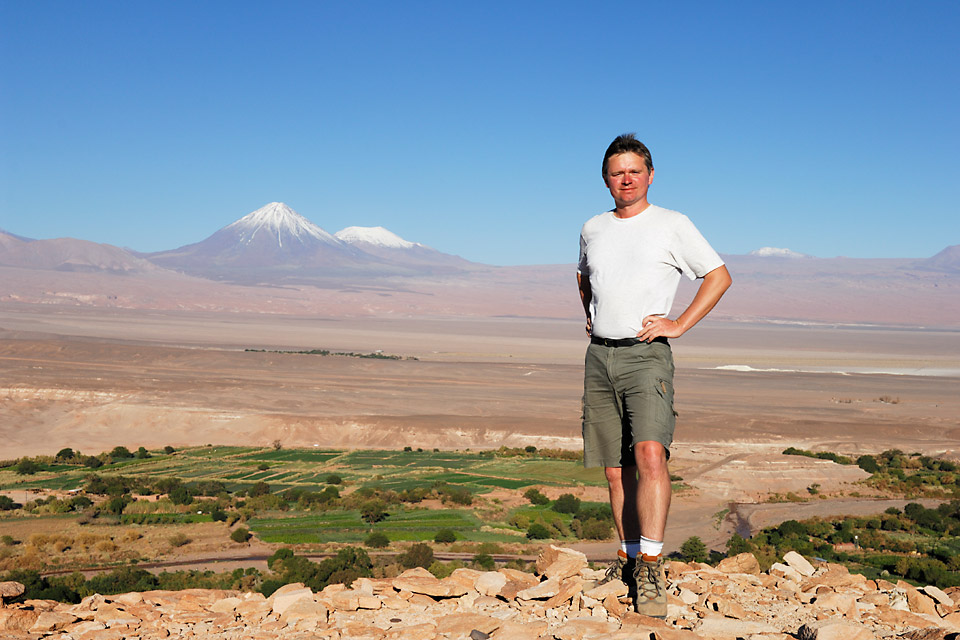 Richard Soberka dans le désert d'Atacama au Chili