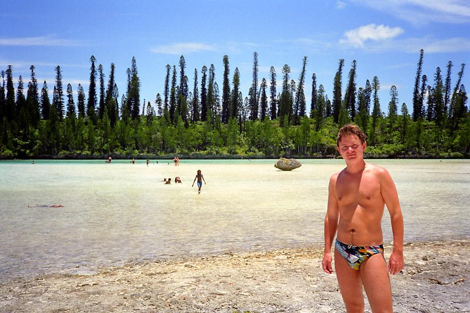 Richard Soberka en Nouvelle Calédonie sur l'île des Pins