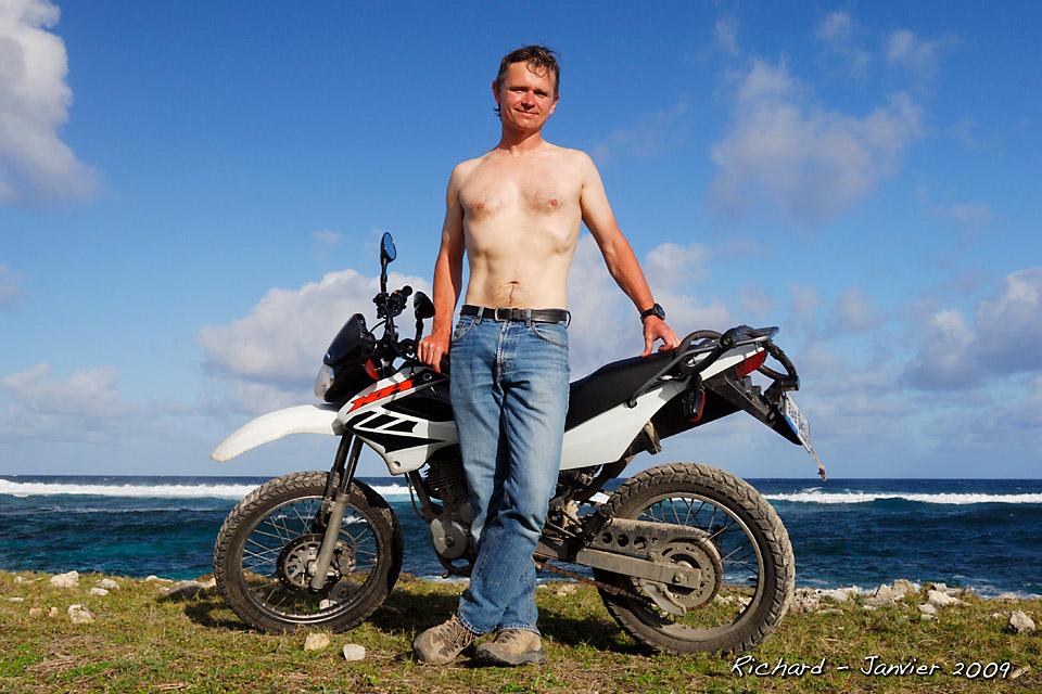 Richard Soberka sur l'île de Marie Galante en janvier 2009