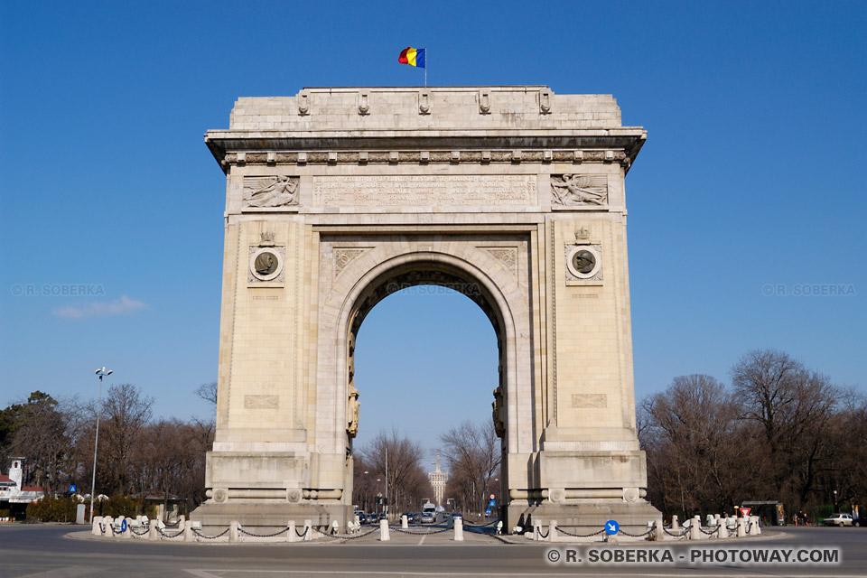 Image Photo Arc de Triomphe photos de l'Arc de Triomphe à Bucarest Roumanie