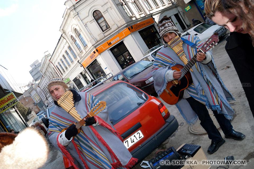 Image Photo de flute andine photos de joueurs de flûte andine péruvienne