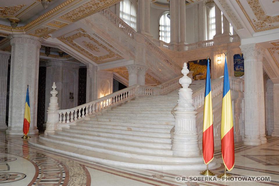 Image Caprice de dictateur Photo de marbre d'Italie photos Palais Ceausescu