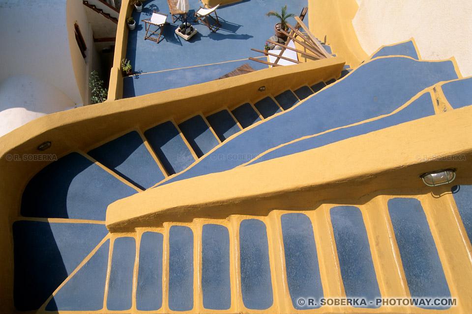 Fond d'écran de Santorin Wallpaper de Santorin fonds d'écran Cyclades