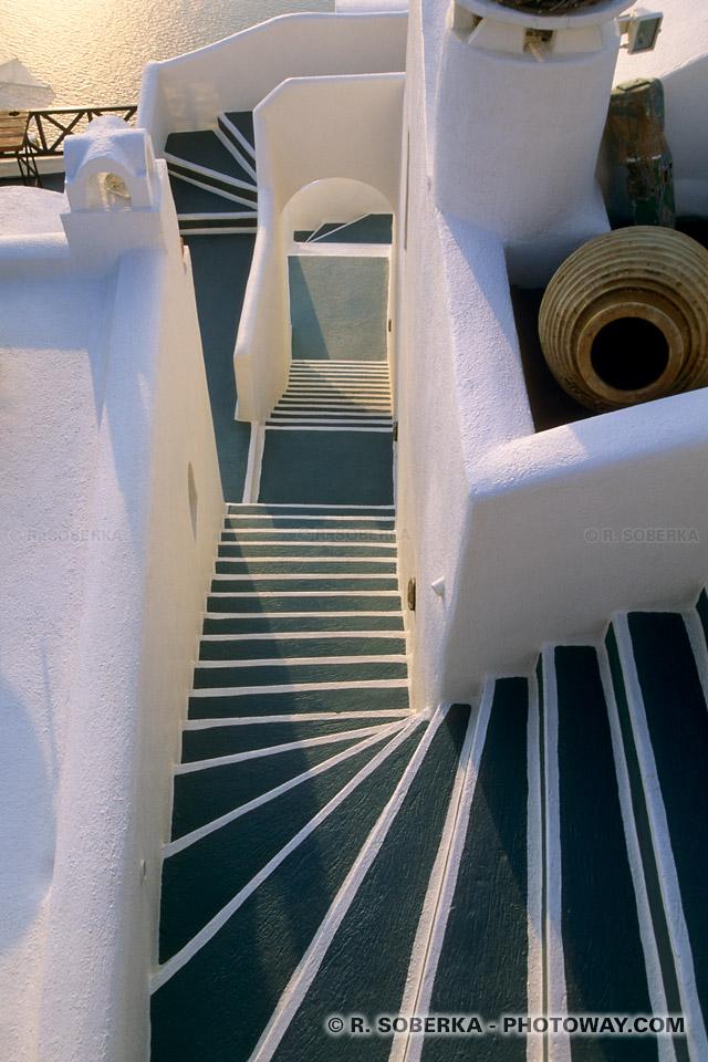 escalier esthétique Santorin