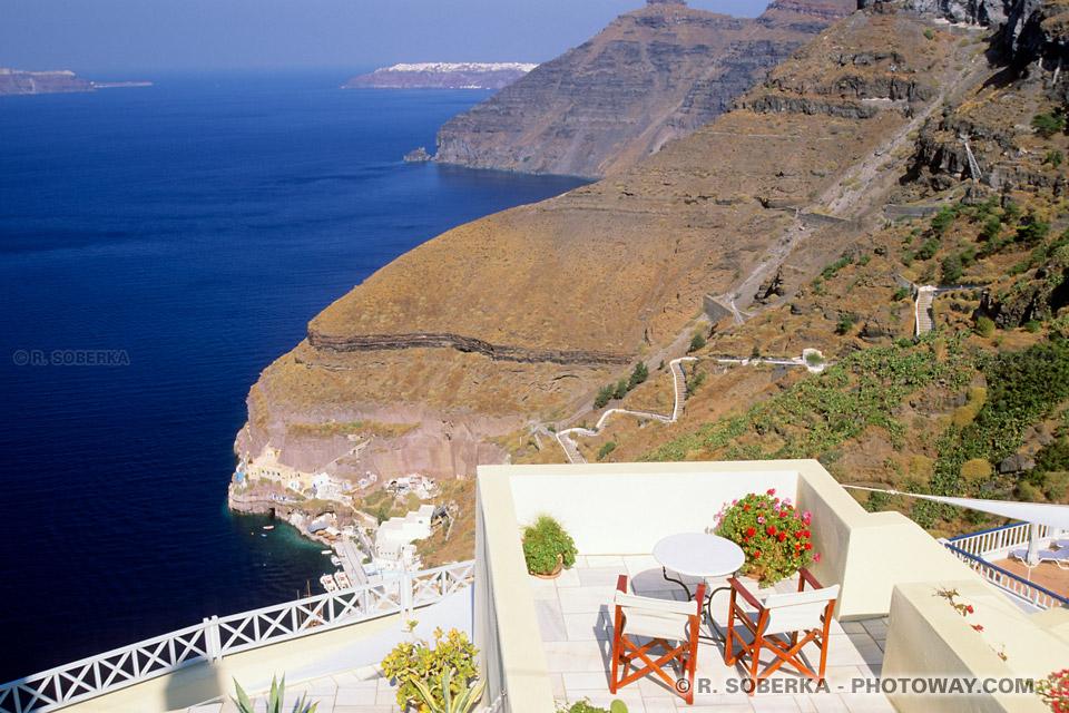 Hôtel avec vue sur mer à Santorin