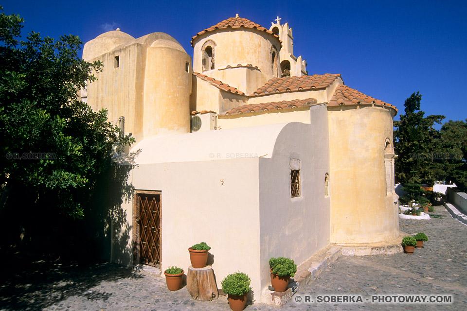église Byzantine à Santorin Panagia Episkopi